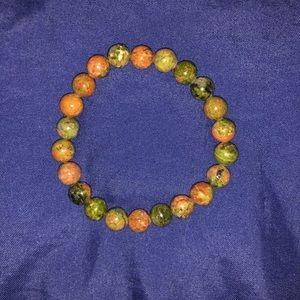 Other - Unakite Stone Mala Beads Bracelet